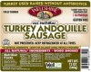 (08310) Turkey Andouille Sausage