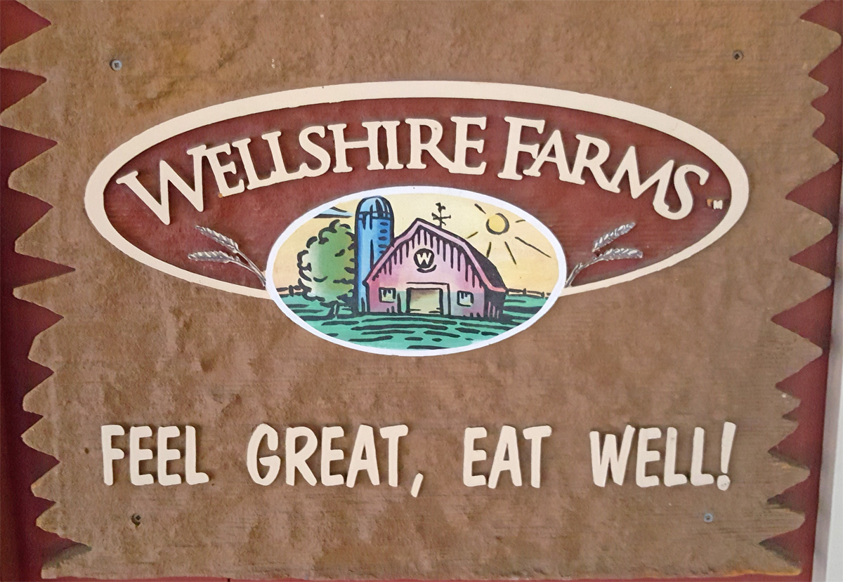 Wellshire Farms sign