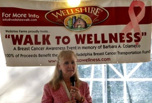 Founder and Official Sponsor of the B.A.C. Walk to Wellness